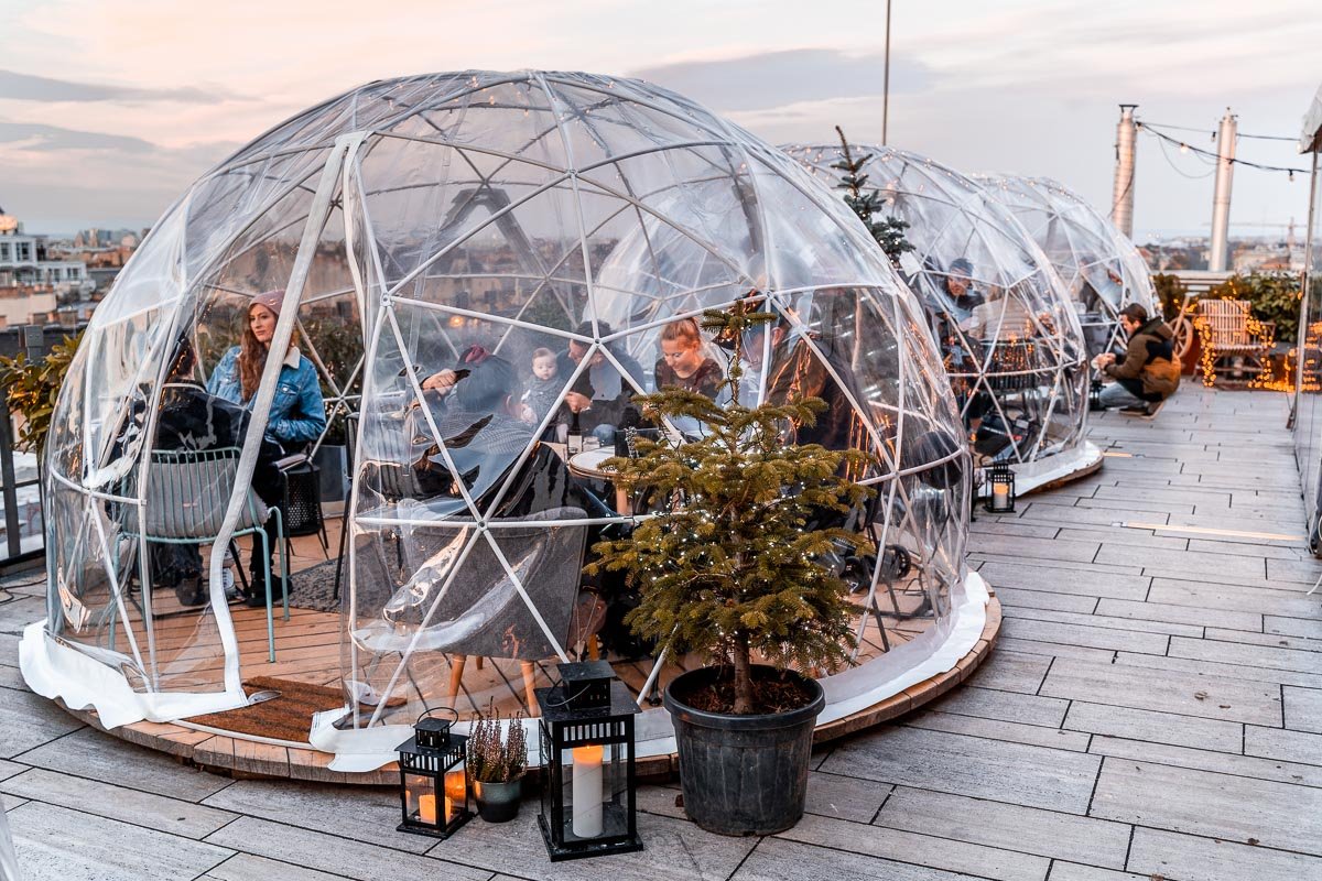 Igloos at the 360 Bar Budapest