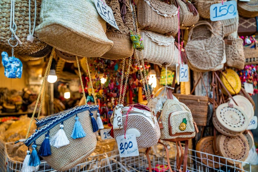 Goods at the Chatuchak Weekend Market in Bangkok