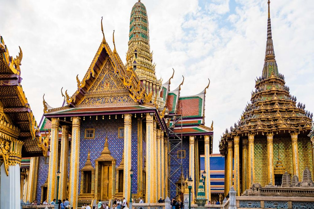 Temples in the Grand Palace in Bangkok, Thailand