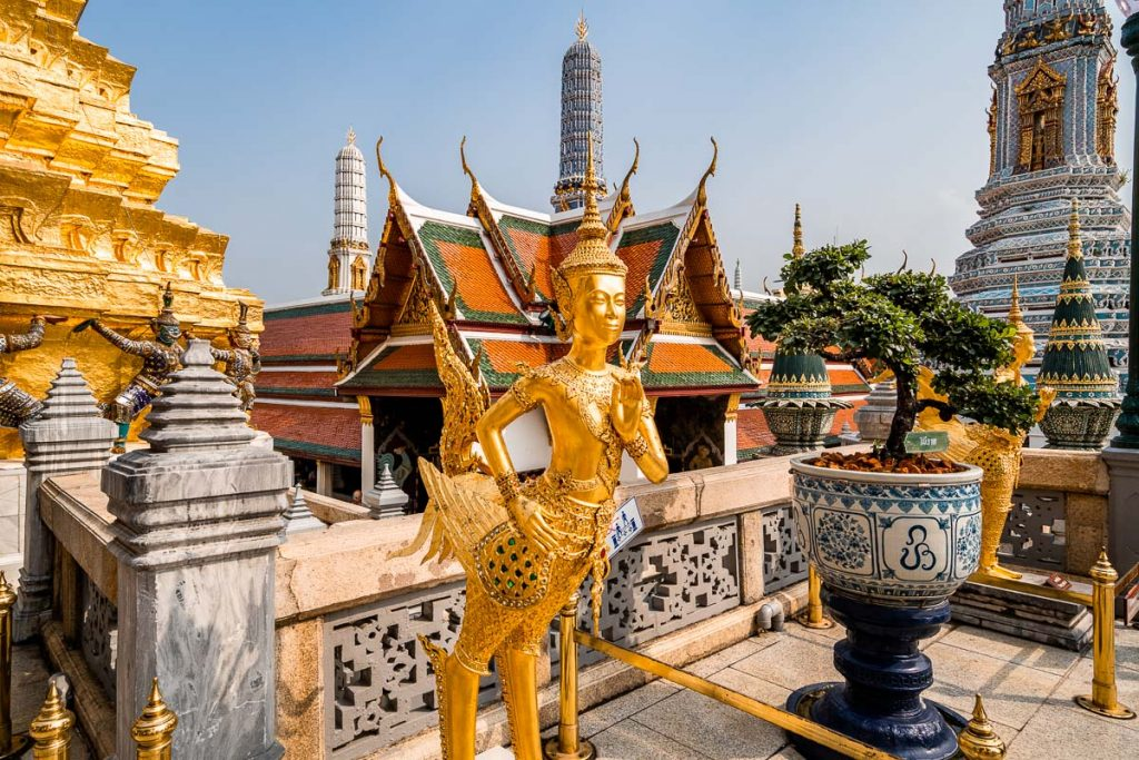 Golden statue in the Grand Palace in Bangkok, Thailand