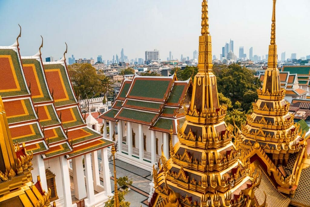 View from the Loha Prasat in Bangkok