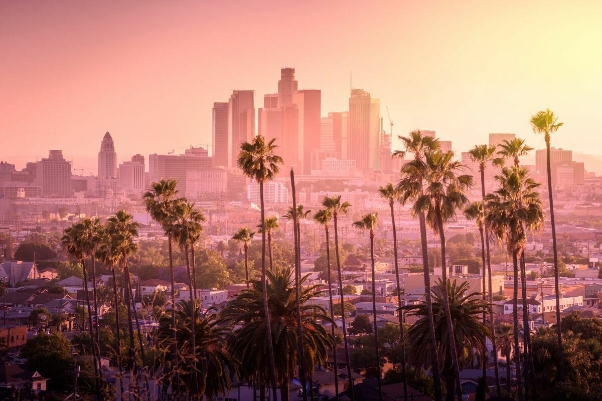 Sunset in Los Angeles, USA