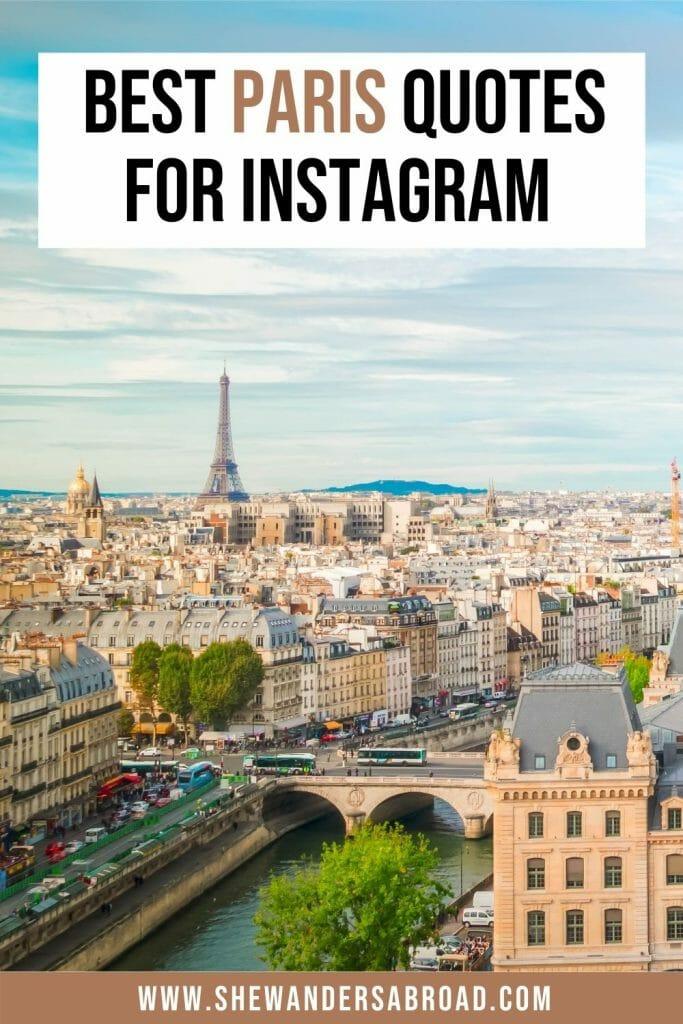70 Amazing Paris Quotes and Instagram Captions for Paris