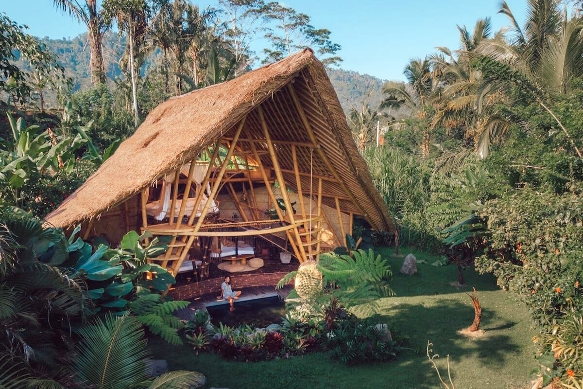 Hideout Horizon Bamboo House in Bali, Indonesia