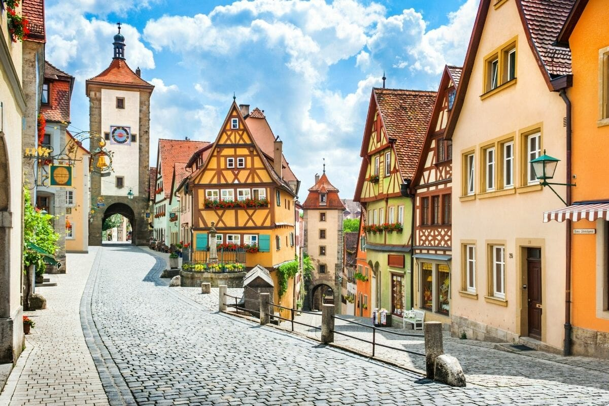 Historic town of Rothenburg ob der Tauber in Bavaria, Germany