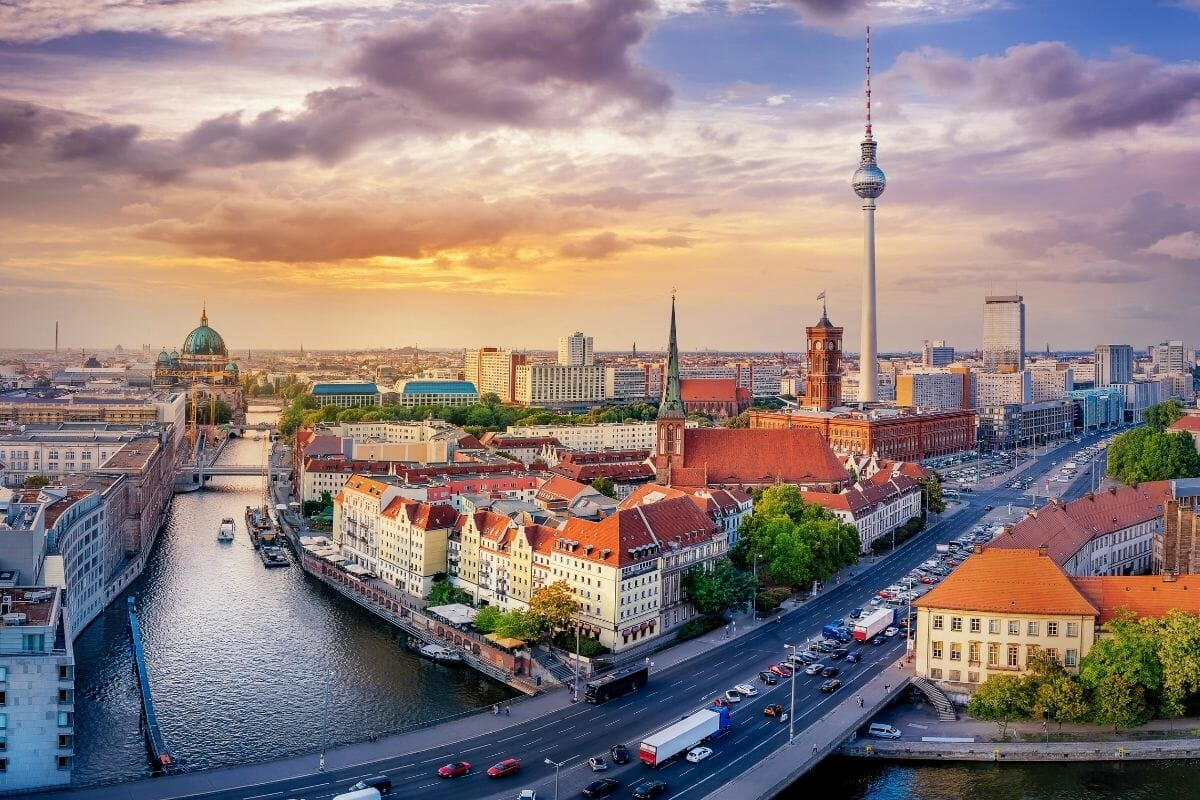 Panoramic view of Berlin, Germany