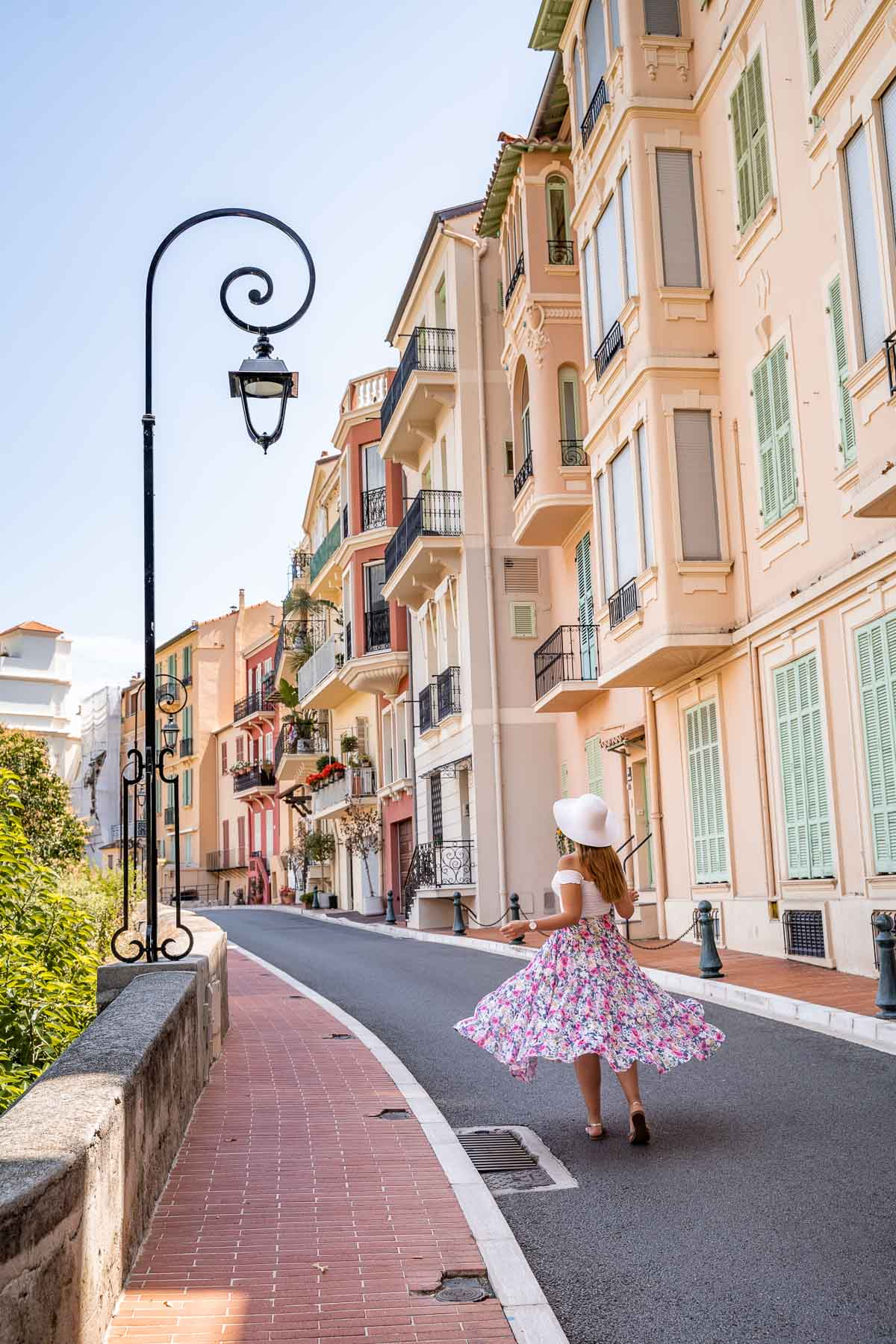 Pastel colored houses in Monaco