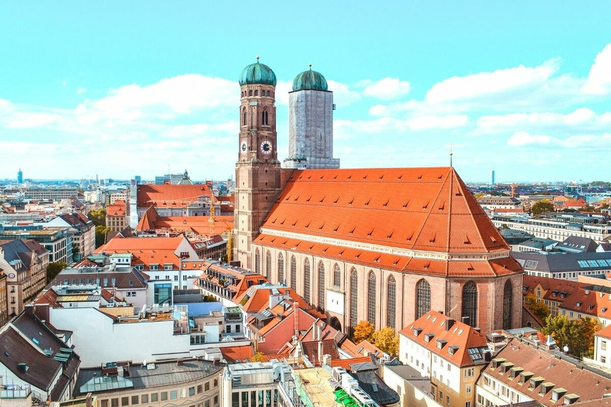View over Munich including Frauenkirche