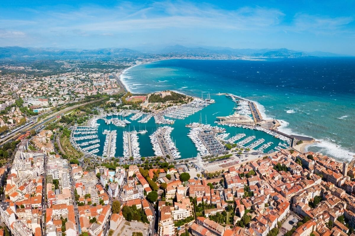 Aerial City View of Antibes, France