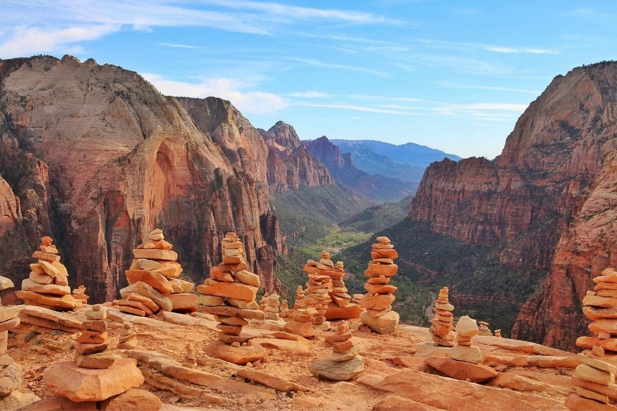 Angel's Landing in Zion National Park, USA
