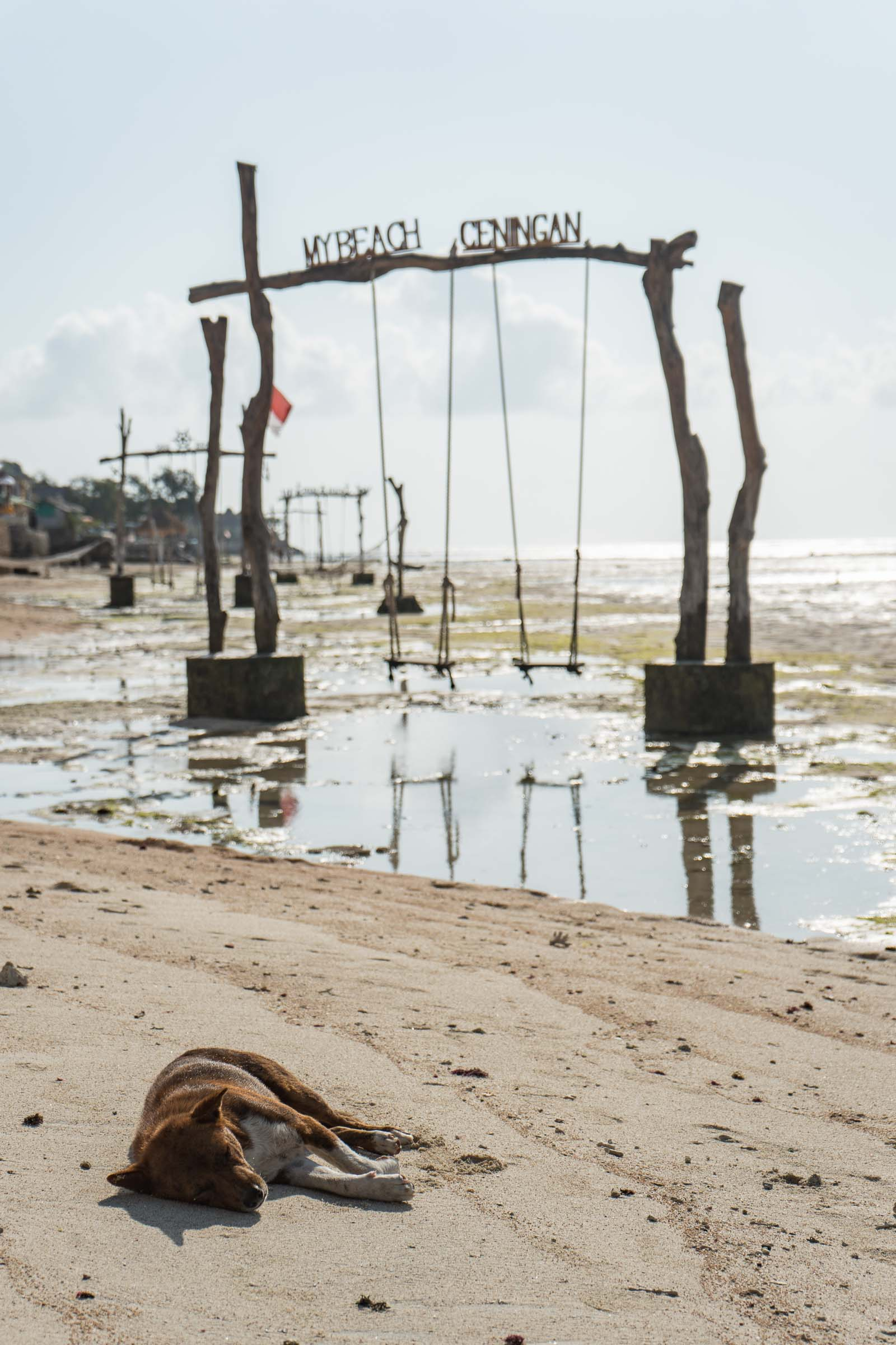 Beach swings on Nusa Ceningan