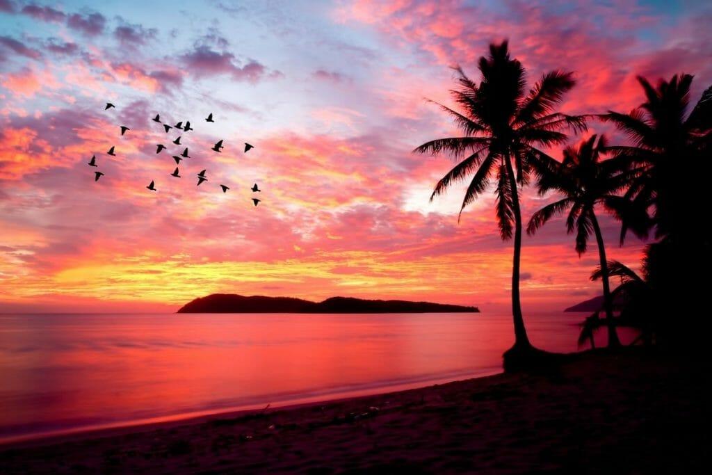 Beautiful sunset in Pulau Langkawi, Malaysia