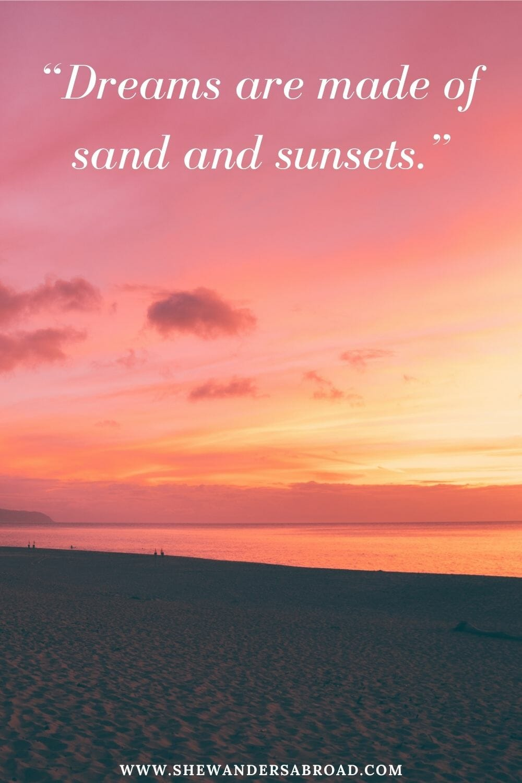 Sunset beach captions