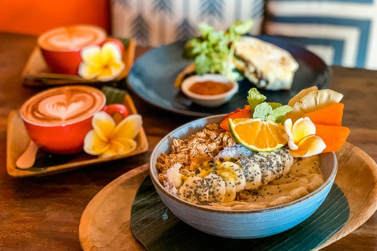 Breakfast at Betelnut Cafe in Canggu, Bali