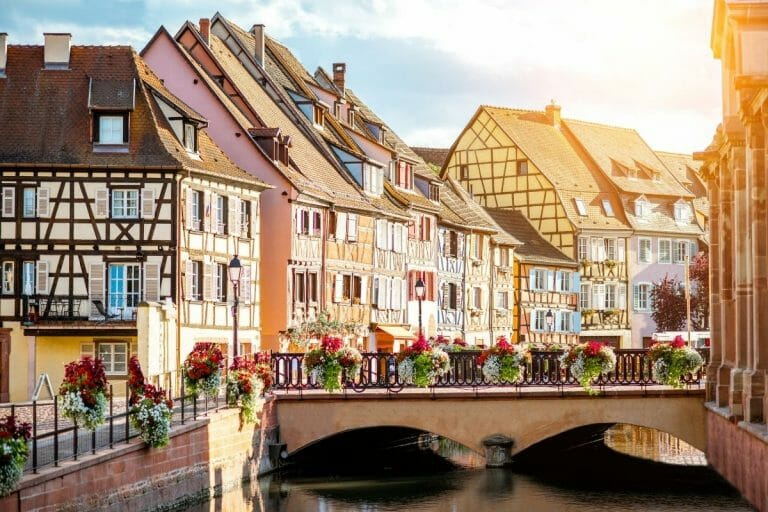 Colorful houses in Colmar, France
