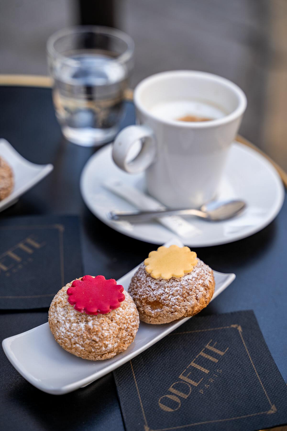 Creme puffs at Odette Paris