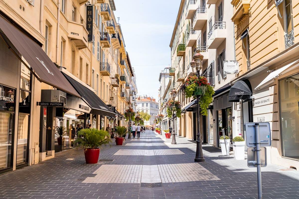 Cute street in Nice, France