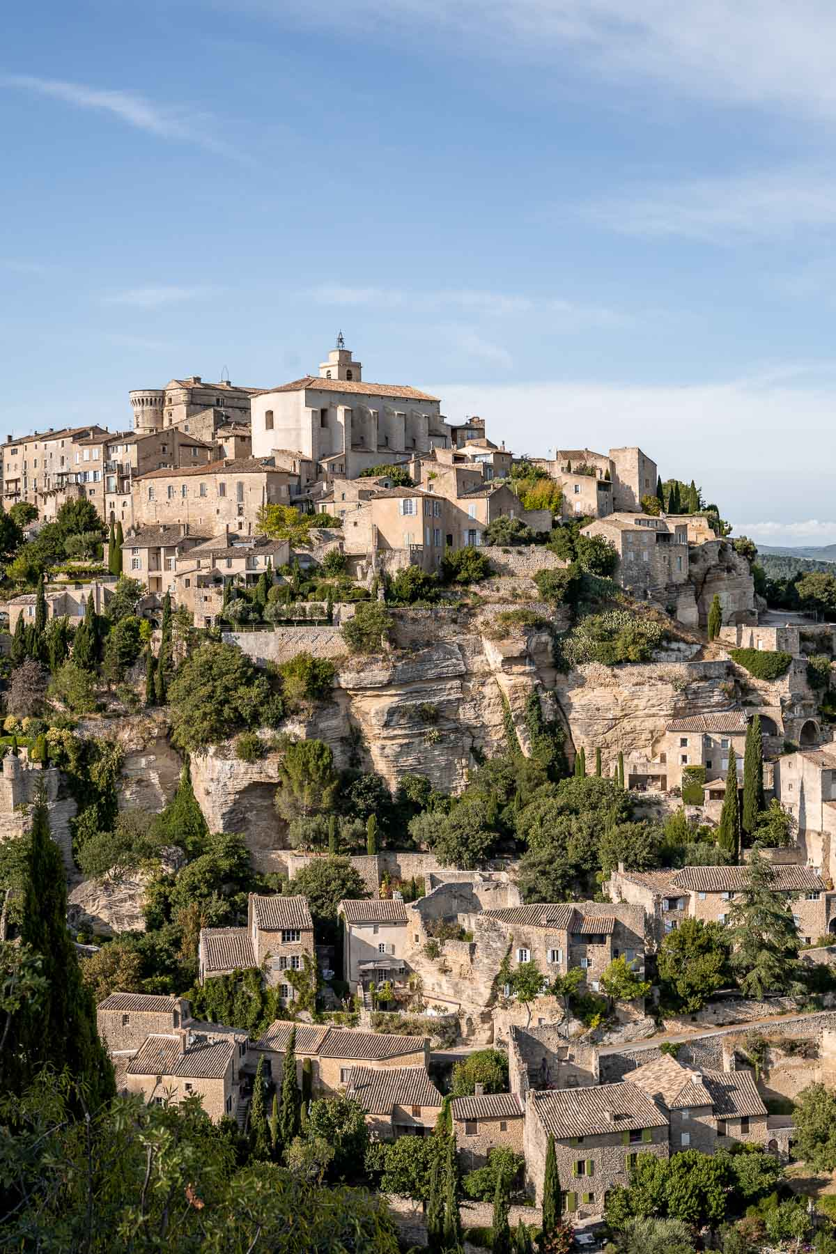 Panoramic view of Gordes in Provence, France