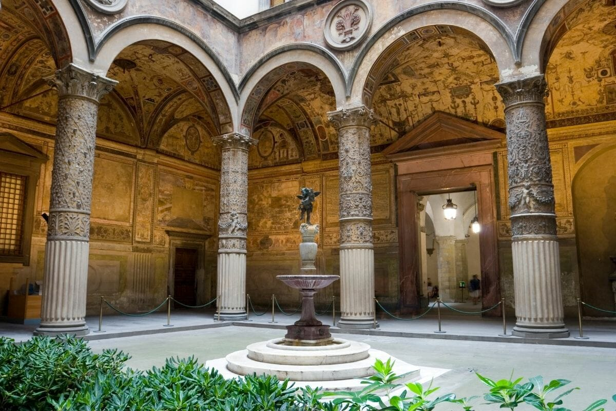 Inside of Palazzo Vecchio in Florence, Italy