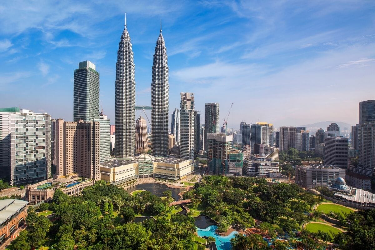 View of the Kuala Lumpur Skyline