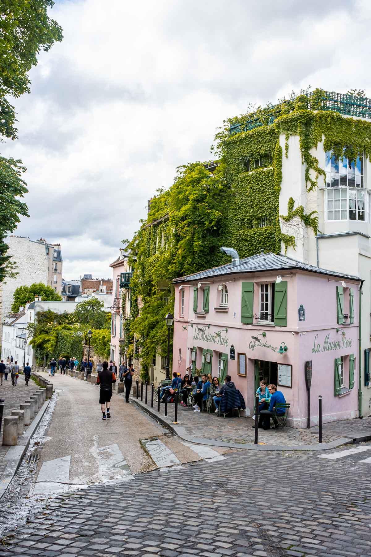 La Maison Rose in Montmartre, Paris