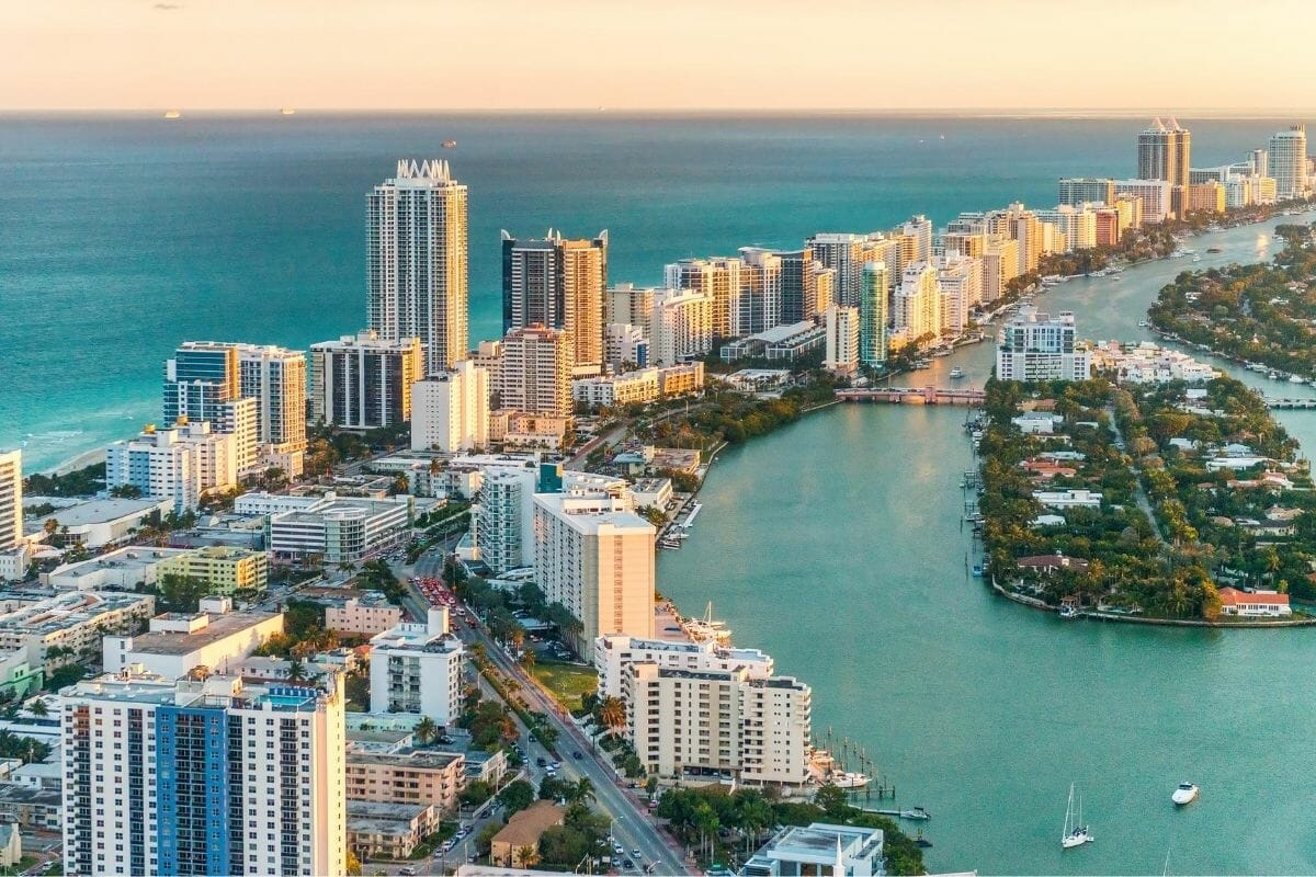 Miami skyline in Florida, USA