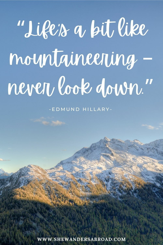 Mountain life quotes