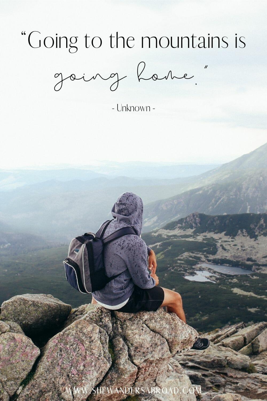 Short mountain captions for Instagram