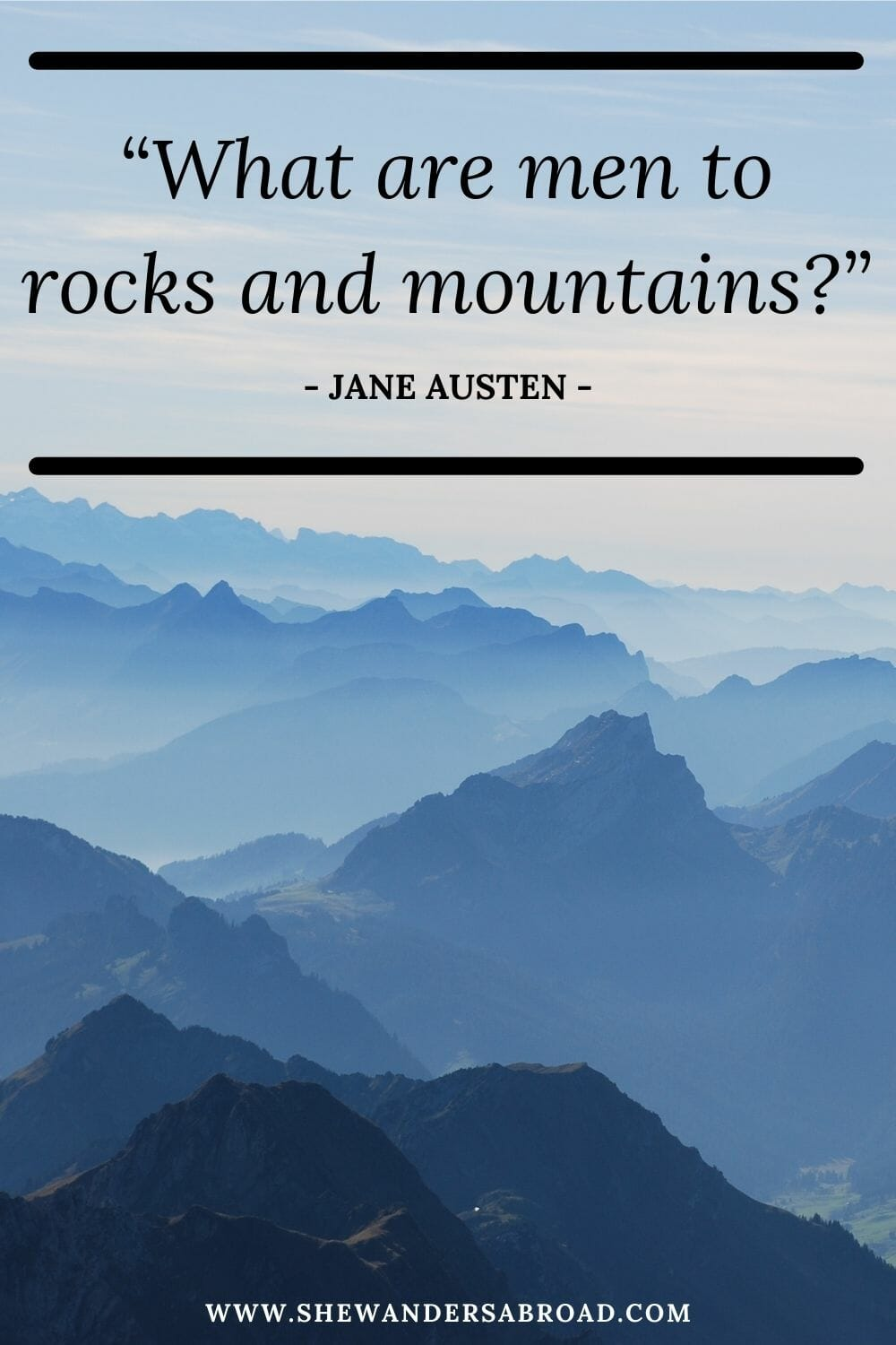 Short mountain quotes for Instagram