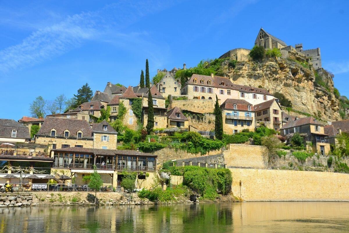Panoramic view of Beynac, France