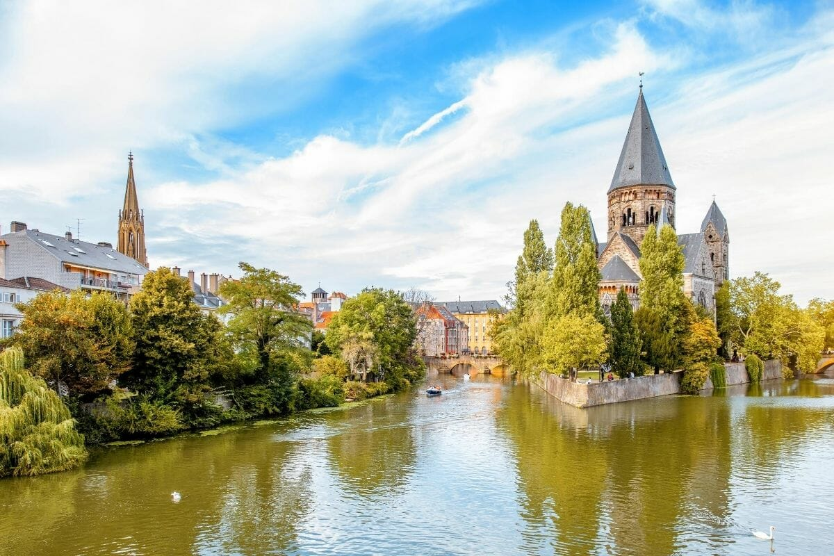 Panoramic view of Metz, France