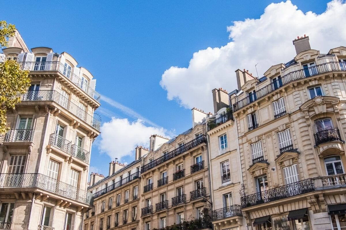 Typical Parisian architecture in Paris, France