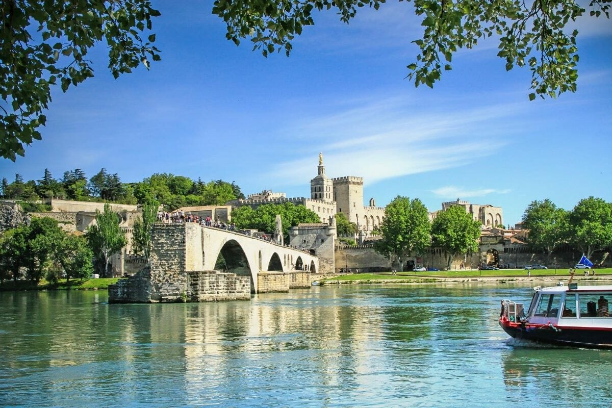 Riverside in Avignon, France