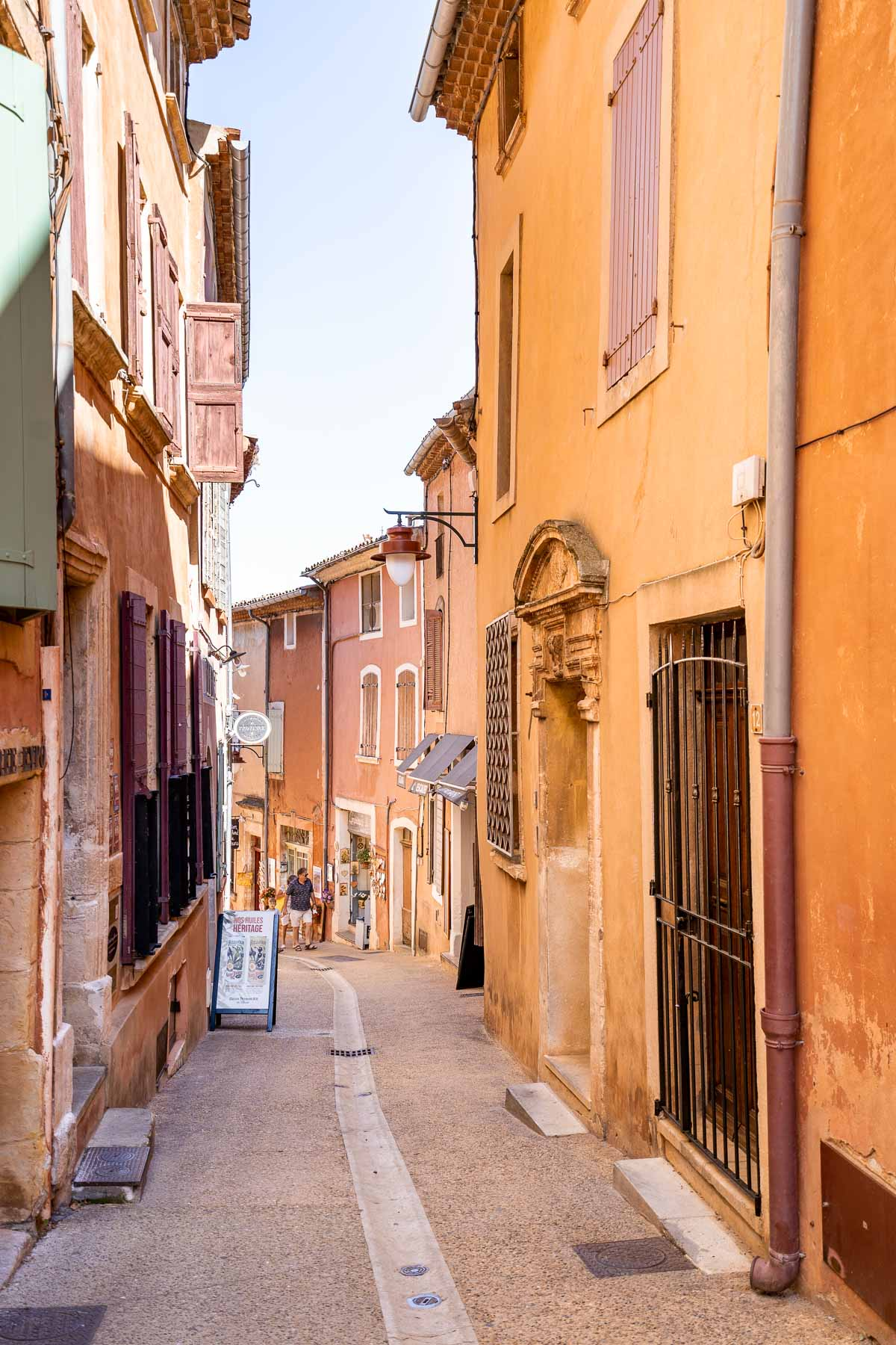 Cute streets in Roussillon, France