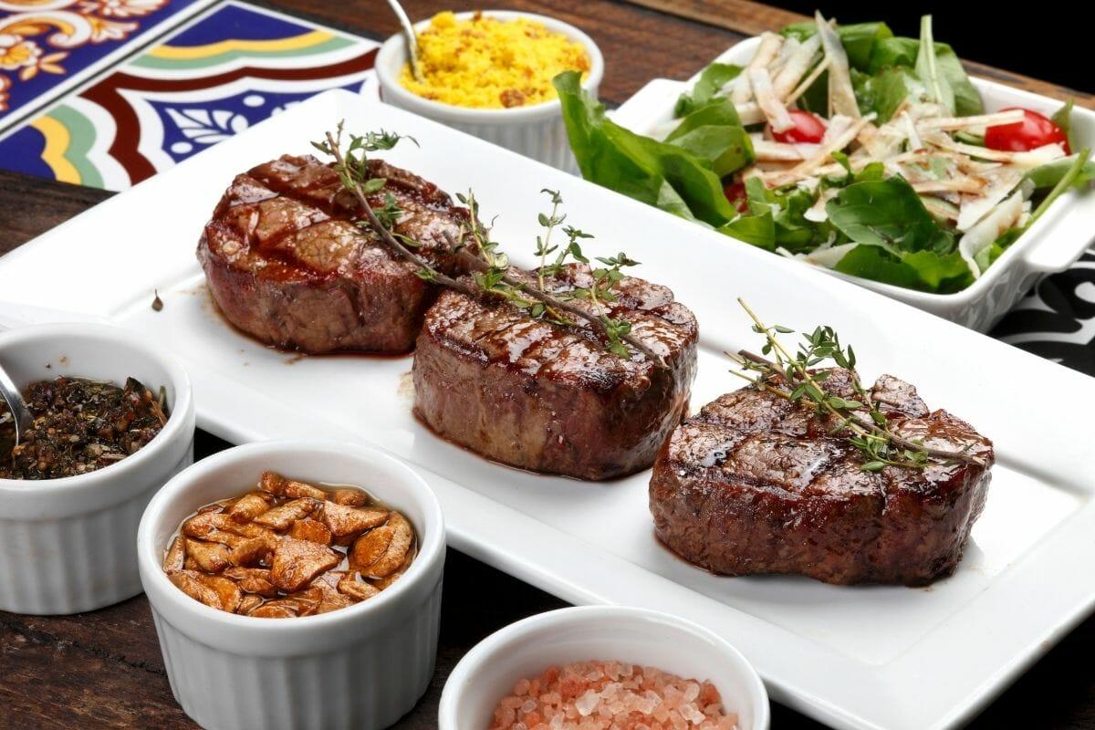 Steaks in a steakhouse