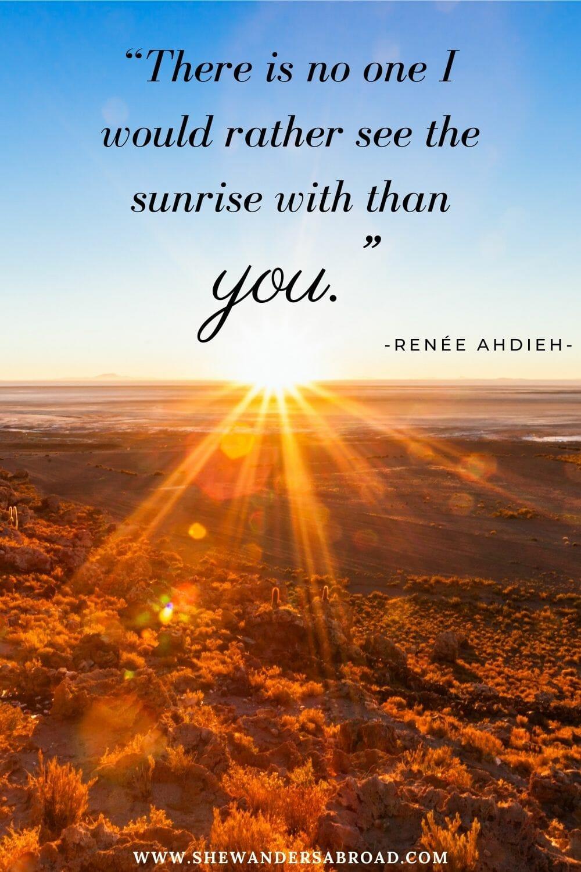 Romantic sunrise love quotes