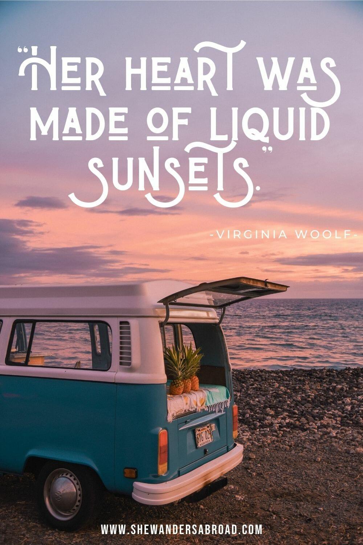 Romantic sunset quotes