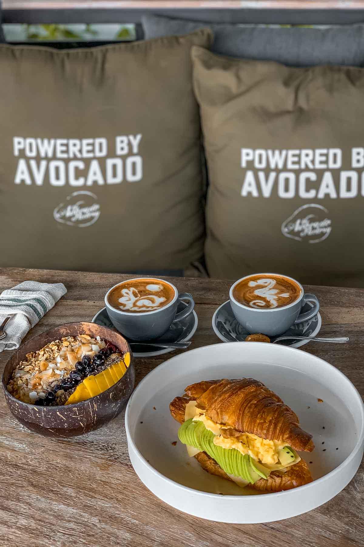 Breakfast at the Avocado Factory Canggu, Bali