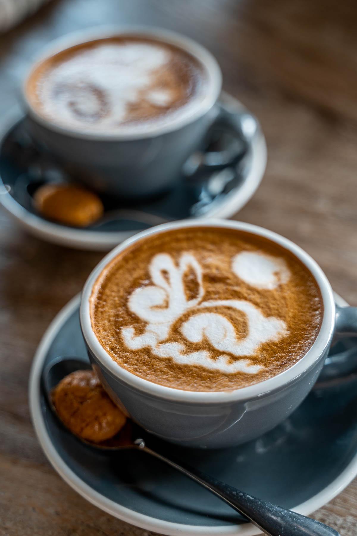 Cappuccino at the Avocado Factory Canggu, Bali