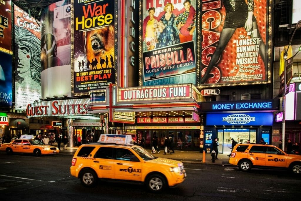 Theatres on Broadway in NYC
