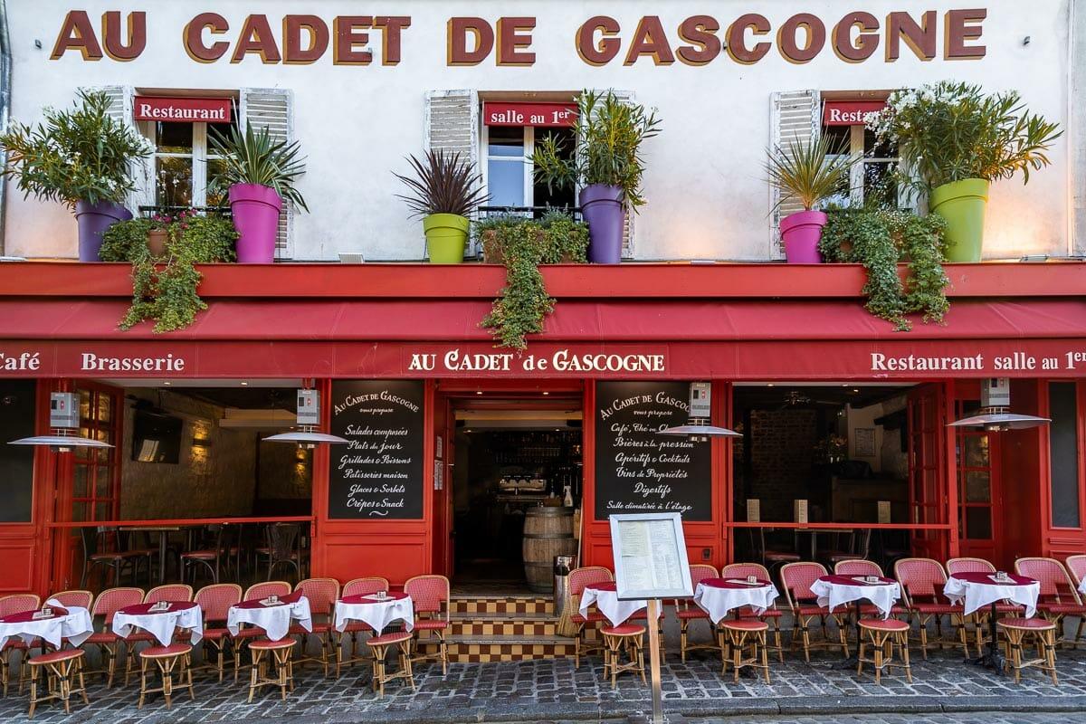 Typical Parisian cafe in Montmartre, Paris