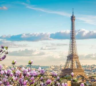 View of Paris in spring