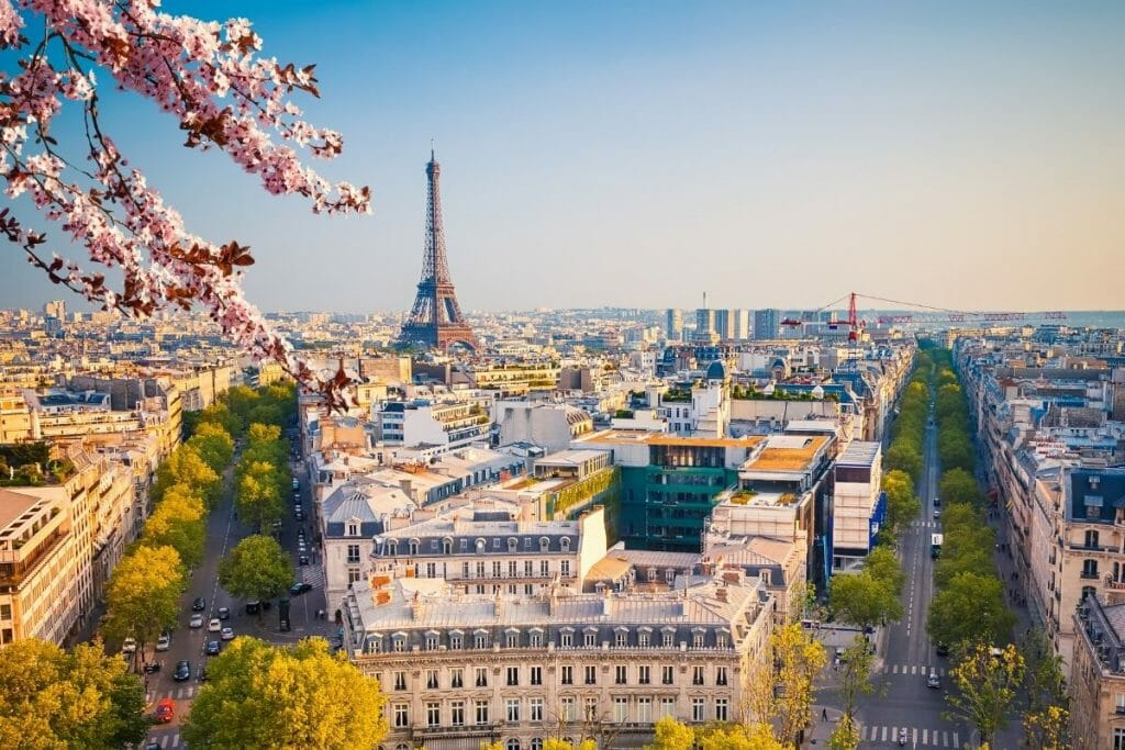 View of Paris with the Eiffel Tower