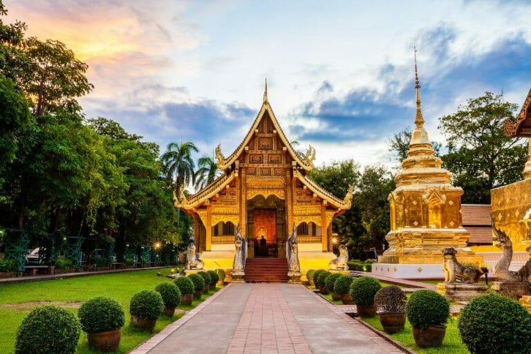 Wat Phra Singh Woramahaviharn in Chiang Mai, Thailand