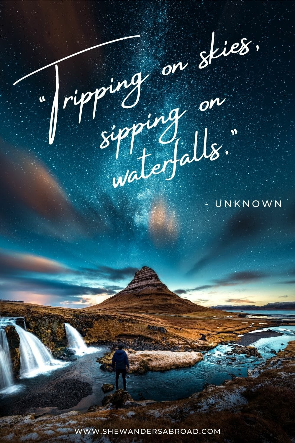 Peaceful waterfall quotes
