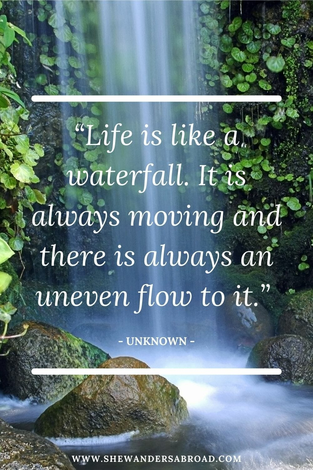 Powerful waterfall quotes for Instagram