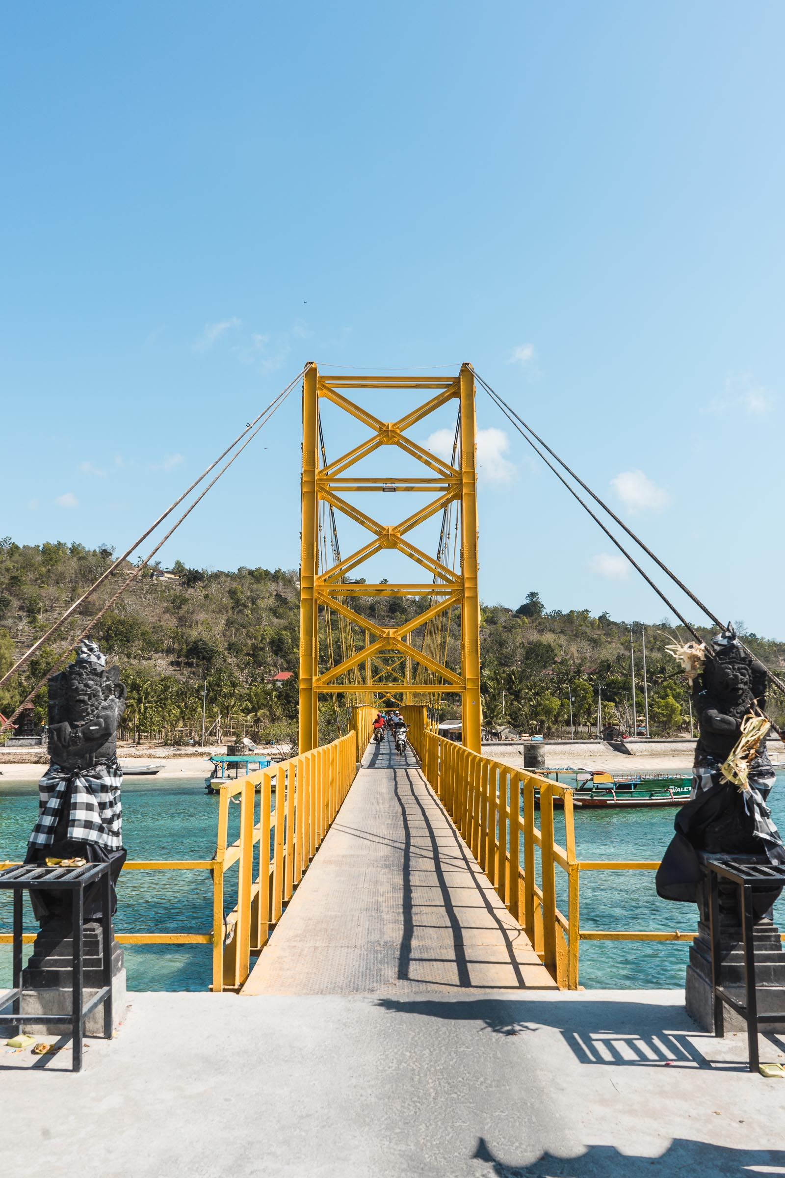 Yellow bridge between Nusa Lembongan and Nusa Ceningan