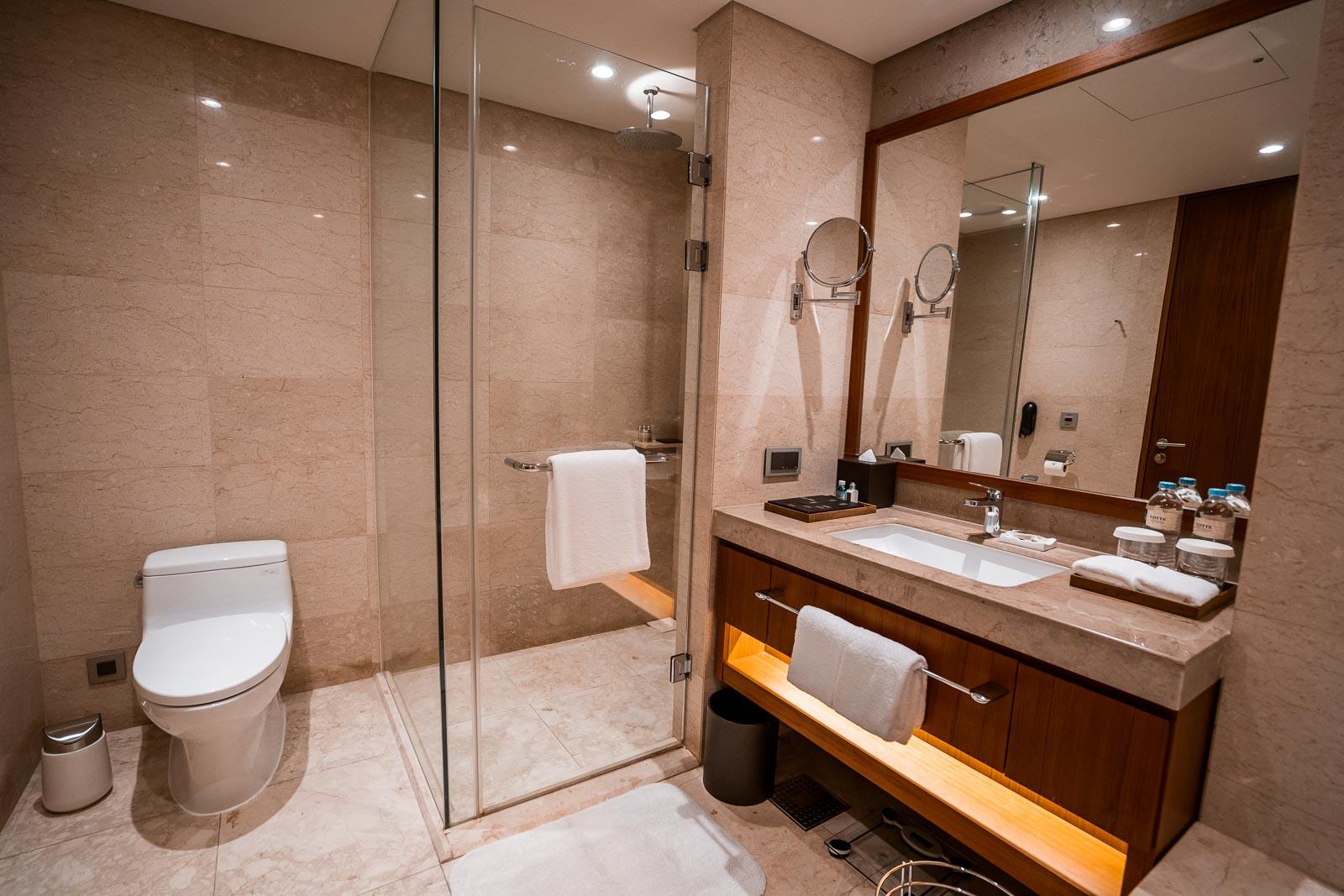 Bathroom at Lotte Hotel Yangon
