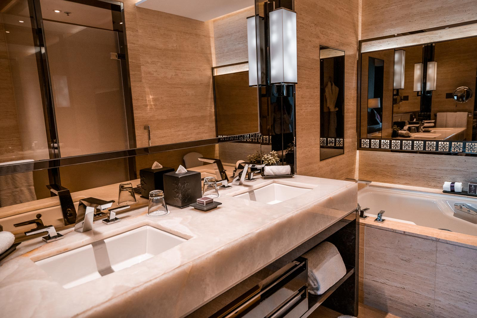 Bathroom in the Ritz Carlton Hong Kong