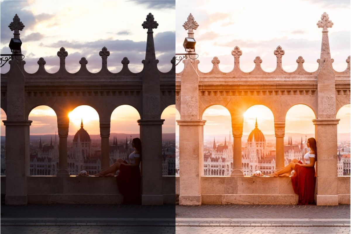 Budapest Before-After with Lightroom Presets